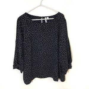 LC Lauren Conrad Black Blouse Size XL